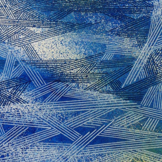 Resonating Line in Blue Series #18