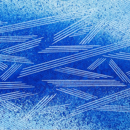 Resonating Line in Blue Series #4